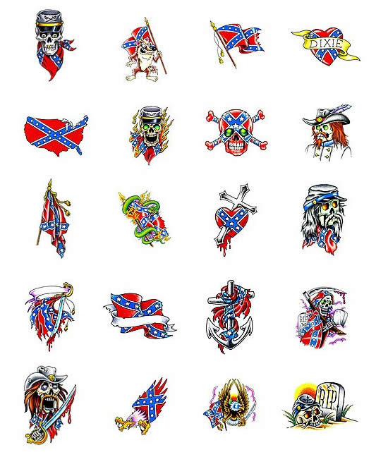 Rebel Flag tattoo meanings. Size:550x648