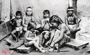 fig.2 Click for a larger picture of these Dayak women tattooing