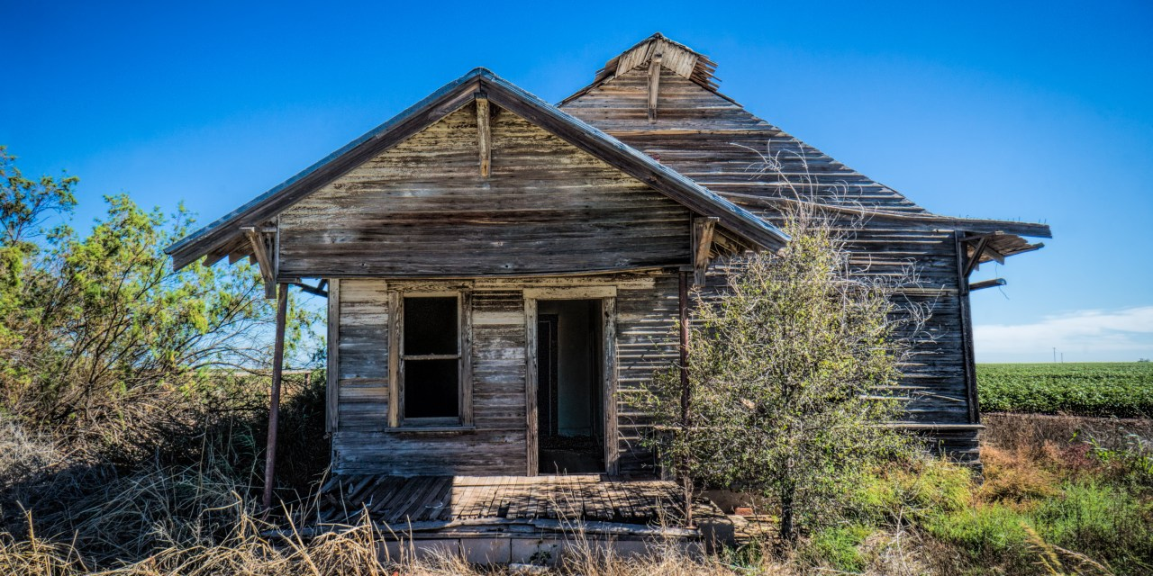 The Old Lovvorn House – Abandoned Farm House South of Stamford, Texas