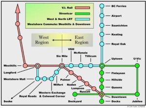 Vancouver Island LRT Line Map