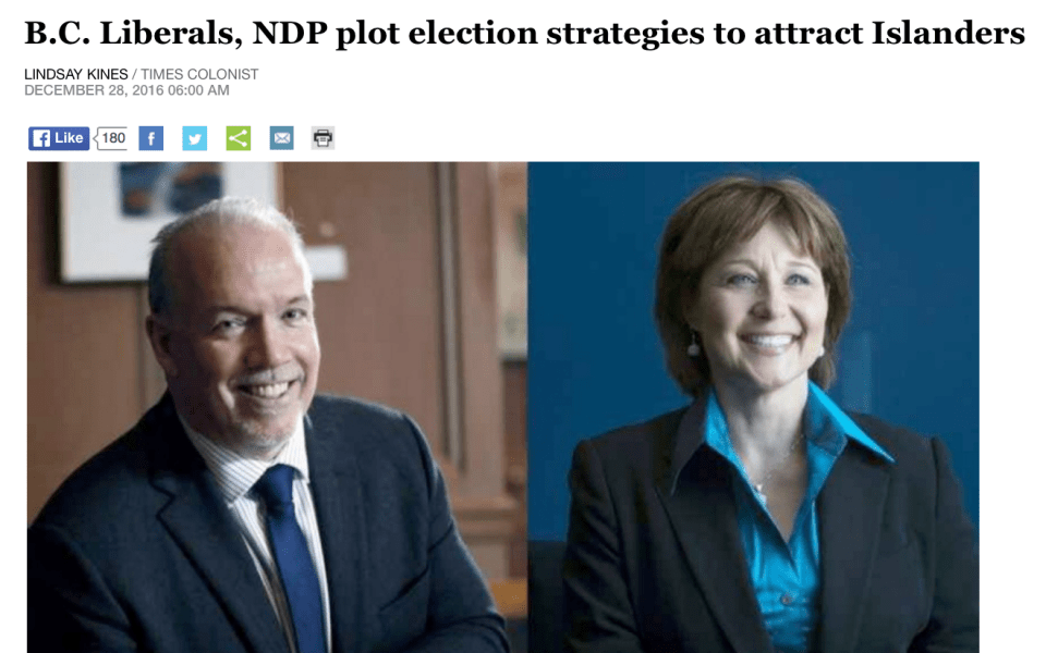 BC Provincial Party Leaders