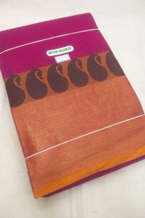 Kanchi Handloom Cotton Paisley (Mangga)