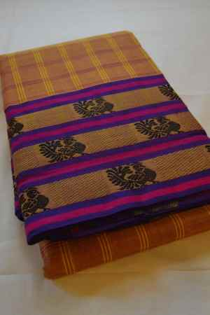 Chettinad Handloom Cotton Kattam Sarees