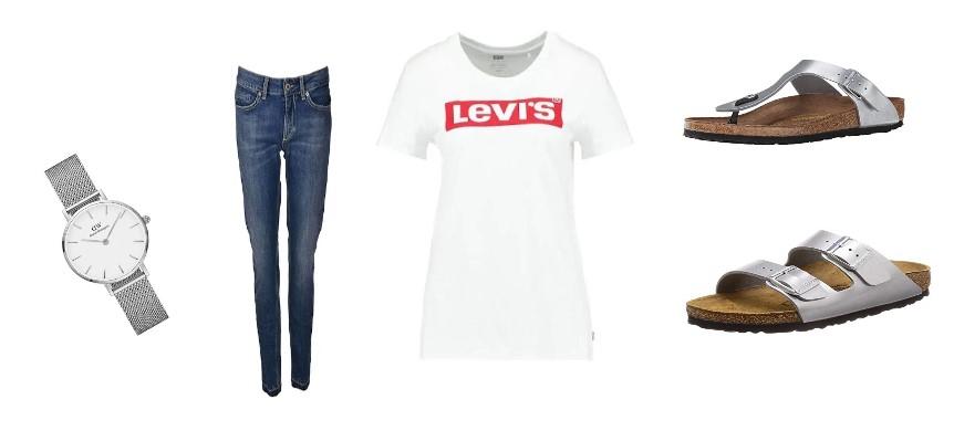 come abbinare le Birkenstock e jeans