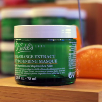 Kiehl's Cilantro & Orange Extract Pollutant Defending Masque
