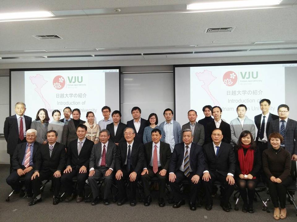 Gặp mặt ban giám hiệu đại học Việt Nhật