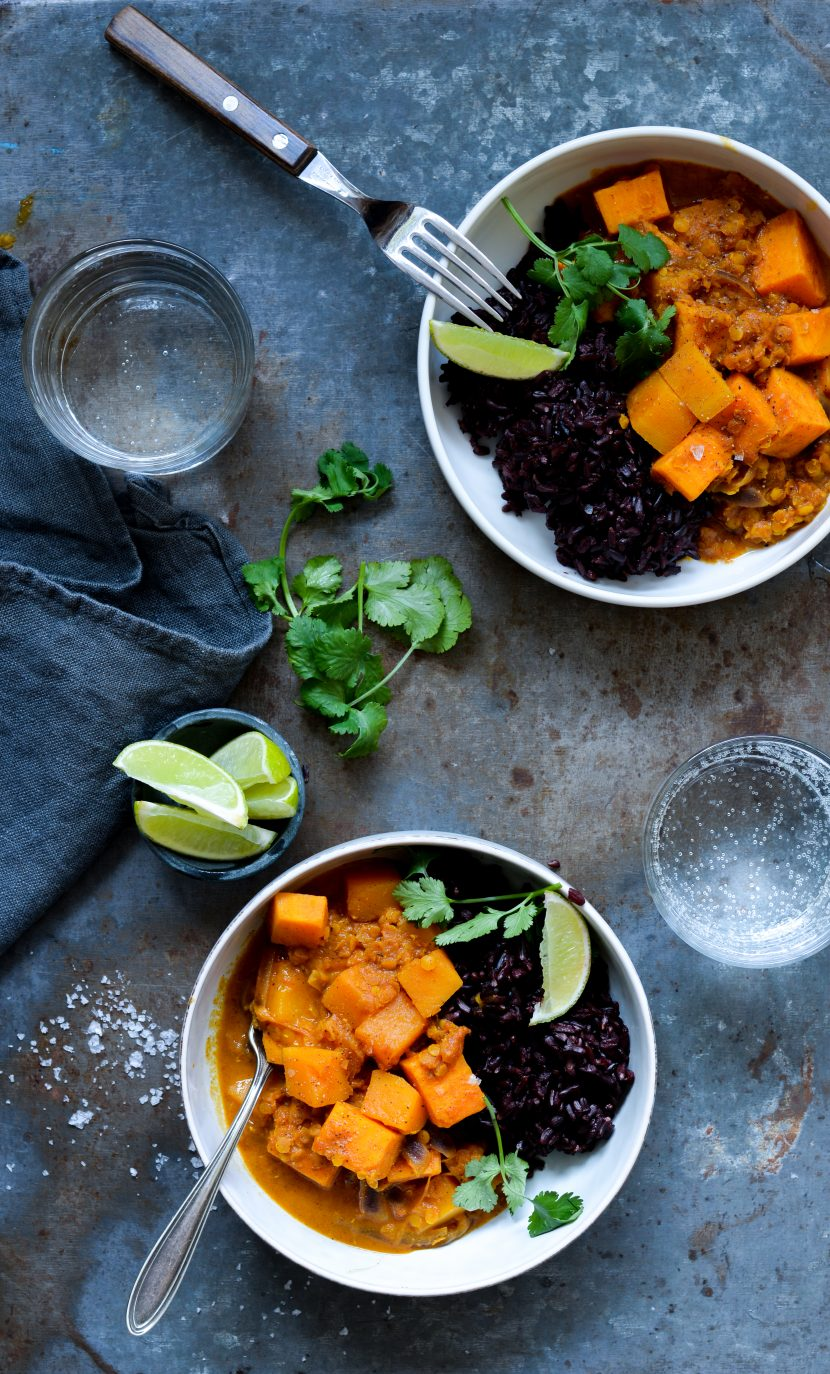 Butternutsquash og sweet potato curry
