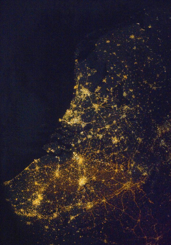 België vanuit de ruimte