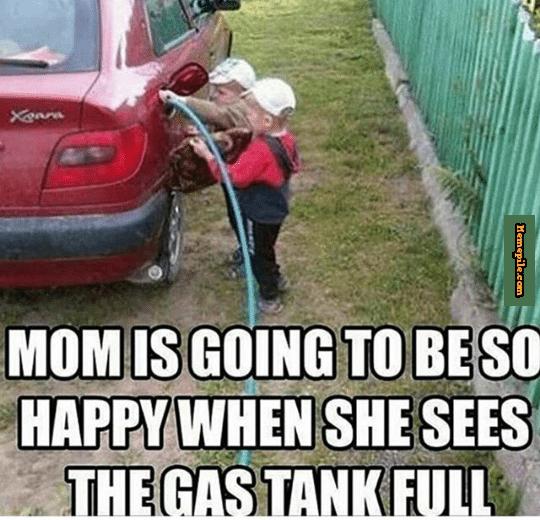 Volle tank