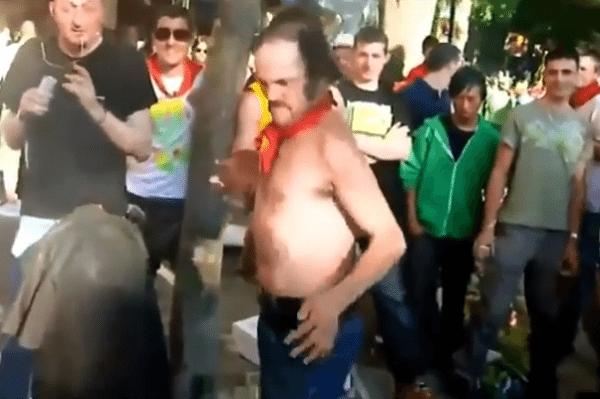 dronken head butt