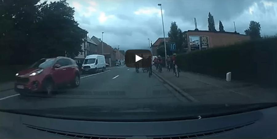 fietsers rijbaan