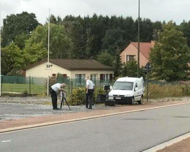 politie plaatst flitser
