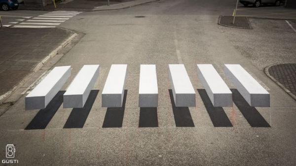 zebrapad optische illusie ijsland 3