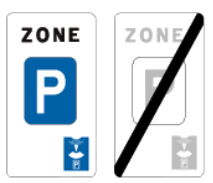 zone blauwe schijf parkeerschijf