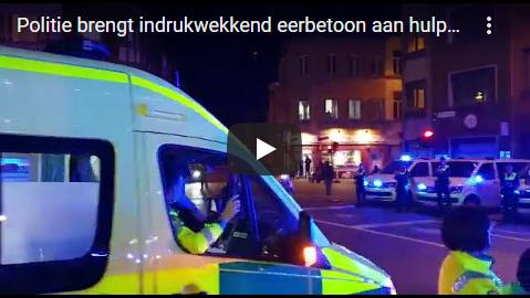 politie eerbetoon