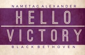 Nametag Alexander & Black Bethoven - Hello Victory [EP Artwork]
