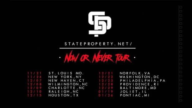 Video: State Property - Now Or Never Tour (Freestyle)