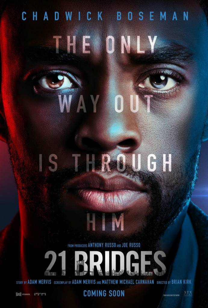 1st Trailer For '21 Bridges' Movie Starring Chadwick Boseman