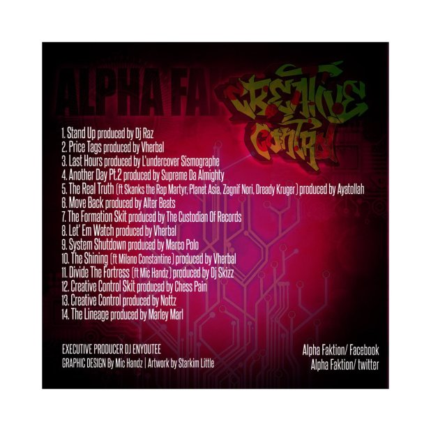 Cop @AlphaFaktion's 'Creative Control' Album Here...