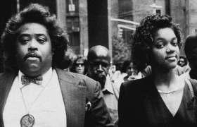 Al Sharpton & Tawana Brawley in 1990