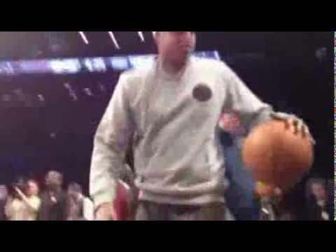 Jay-Z (@S_C_) Showing His Dribble Skills Before Nets/Knicks Game 11.26.2012
