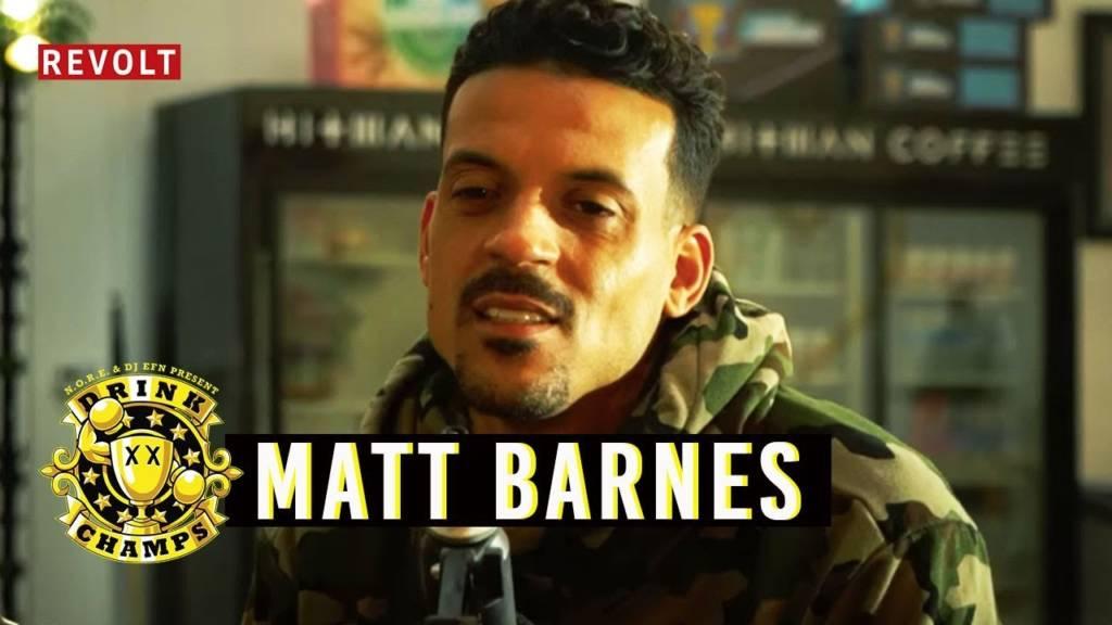 Matt Barnes On Drink Champs (@Matt_Barnes22 @Noreaga @DJEFN @DrinkChamps @RevoltTV)