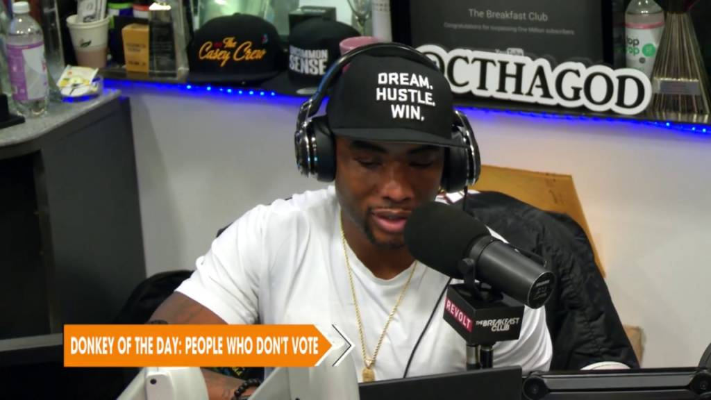Charlamagne Tha God Awards Donkey Of The Day To People Who Don't Vote