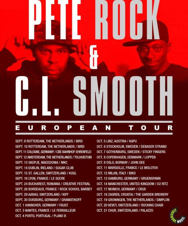 Pete Rock & C.L. Smooth To Embark On 30-Show European Tour