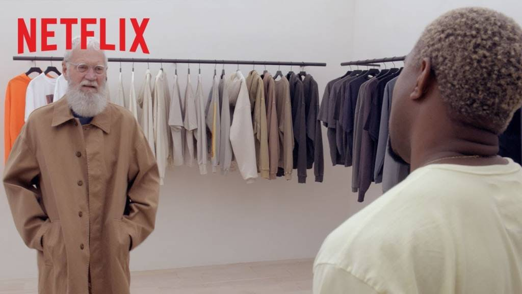 Kanye West Styles Dave On Netflix Original Series 'My Next Guest Needs No Introduction With David Letterman'