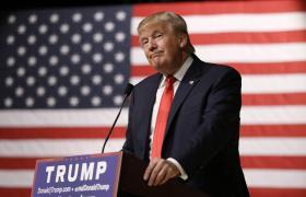 President Donald Trump giving press conference in Florida [Press Photo]