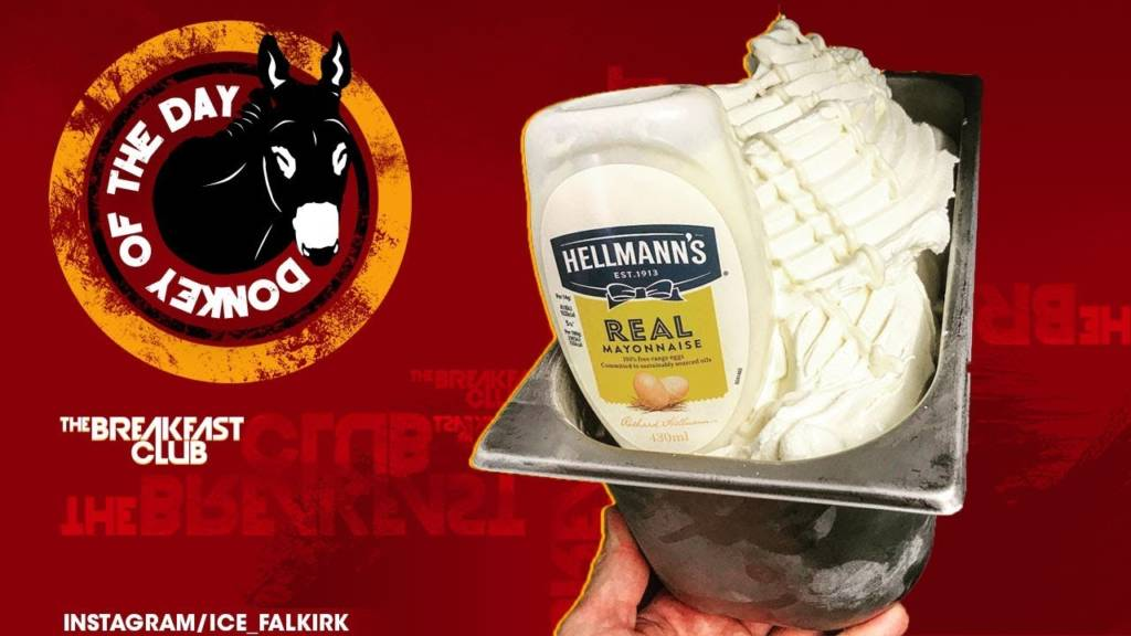 Scottish Ice Cream Parlor Awarded Donkey Of The Day For Introducing New Mayonnaise Flavor