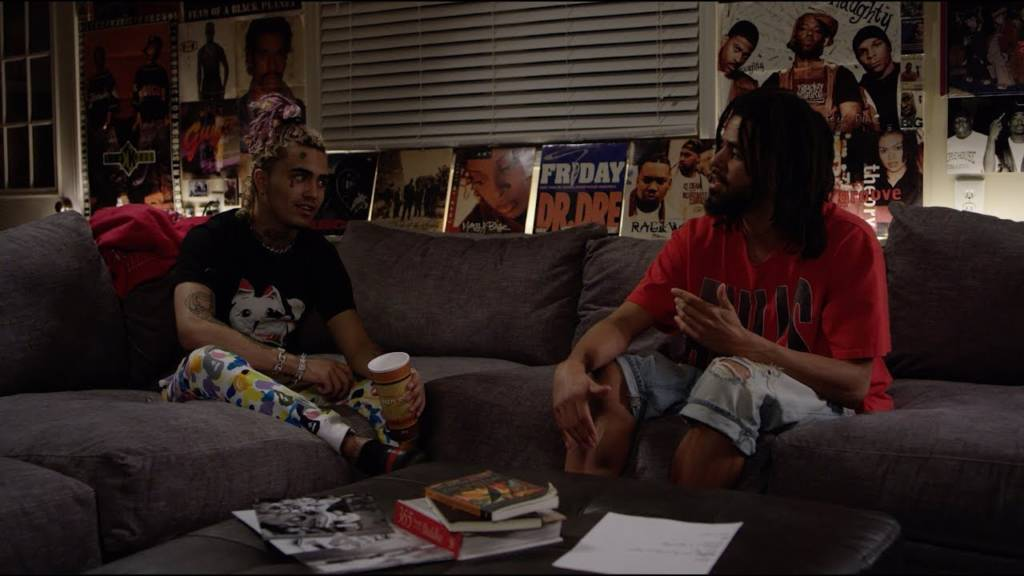 J. Cole & Lil Pump Conduct Interview @ The Sheltuh