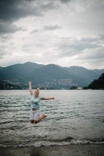 Füße baden in Como