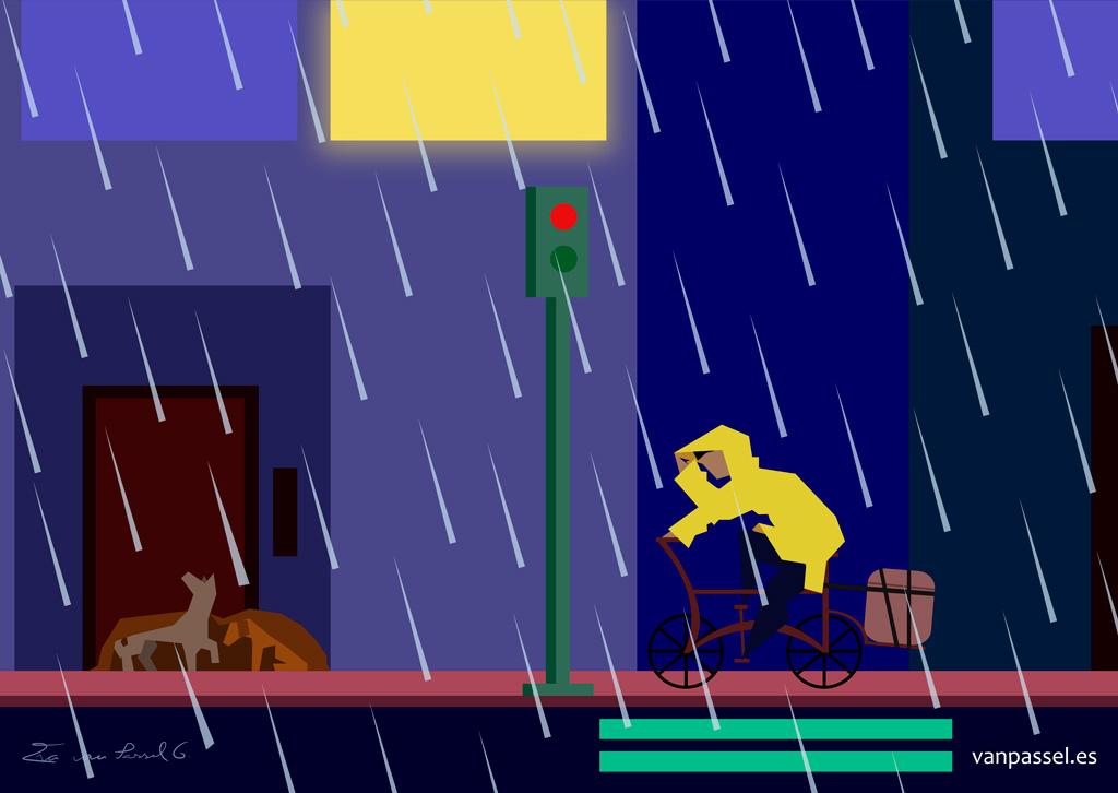 Pobre y precaria lluvia   lluvia