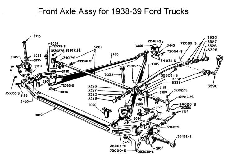 1938 Ford Pickup Parts Catalog