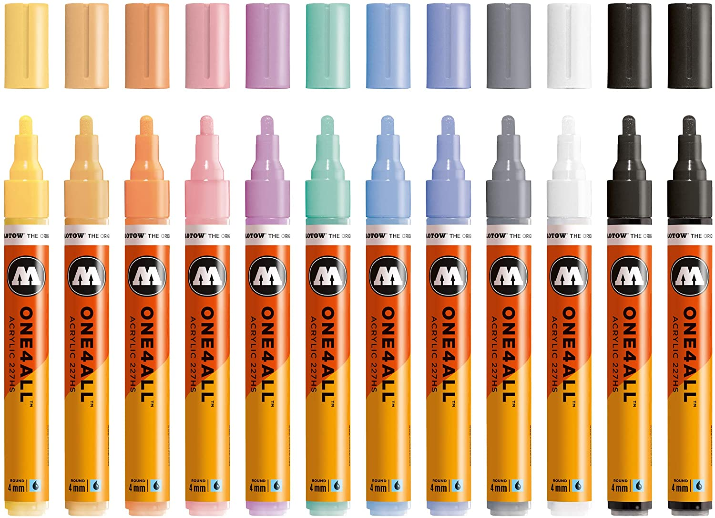 Rotuladores Molotow color pastel punta 4mm