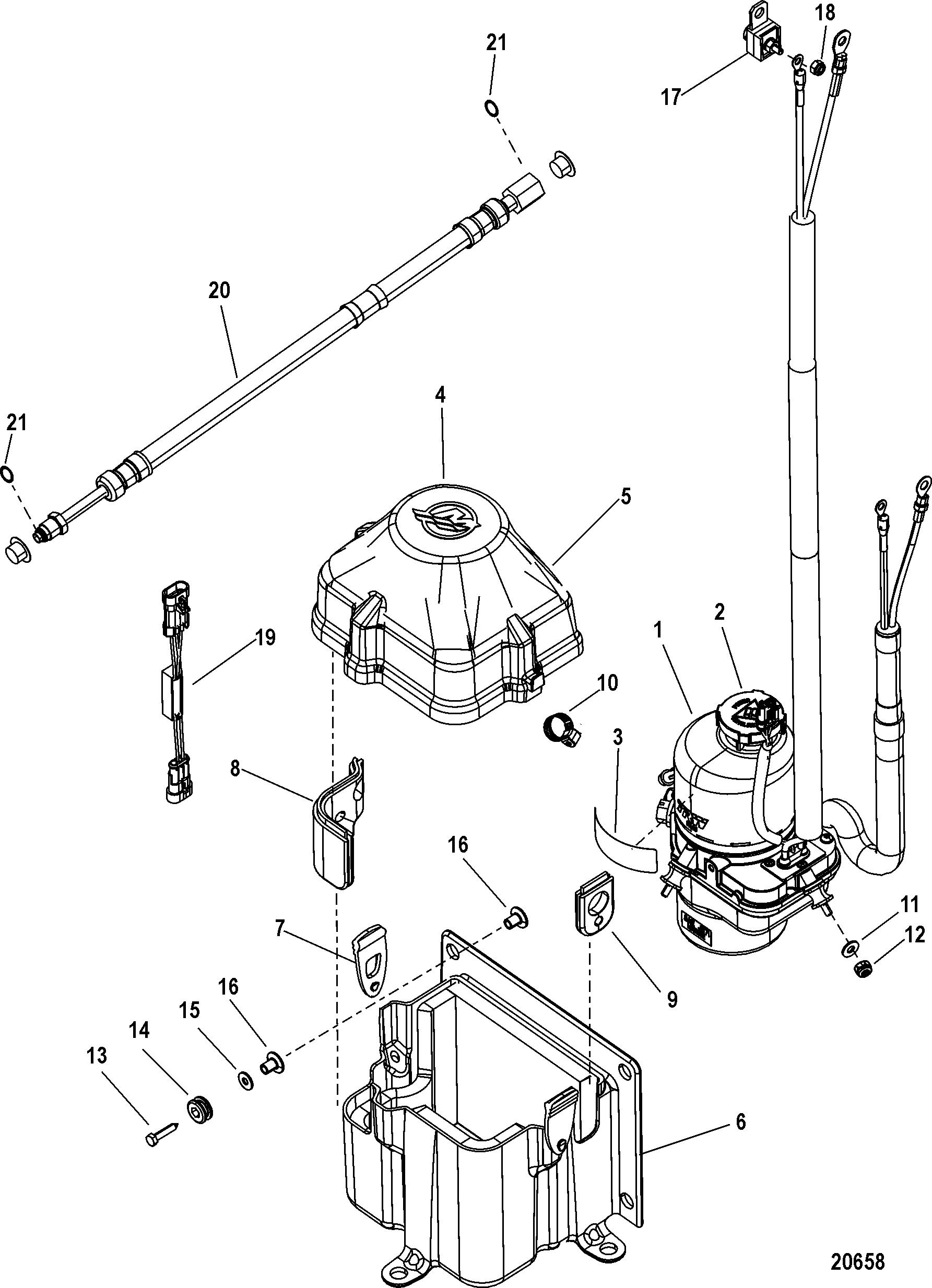 Outboard Motor Steering Kit