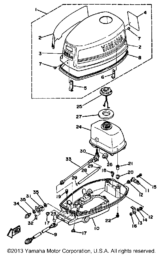 Evinrude Motor Parts Diagram