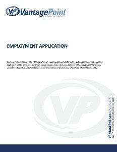 vps job application fillable form vantage point