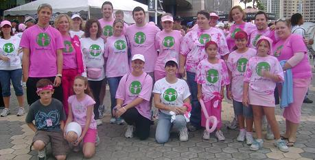 Breast cancer walk in tampa