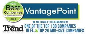 Vantagepoint AI recognized as a Top 100 Best Place to Work in State of Florida