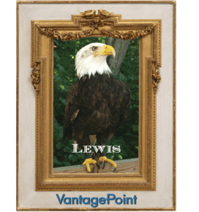 Vantagepoint AI software's new mascot, Lewis the Eagle