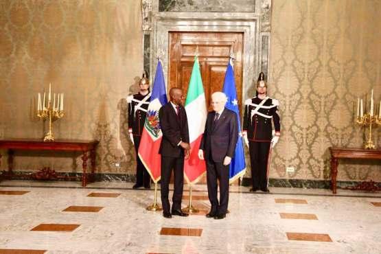 Haïti/Coopération: Tête-à-tête entre les présidents Haïtien et Italien