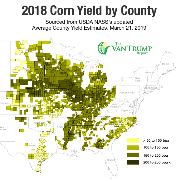 Corn Yields by County