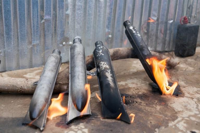 Vypalování výfuků ČZ 150 C