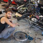 Oprava zadního kola