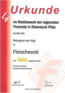 Fleischwurst Gold 2017