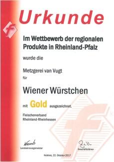 Wiener Würstchen gold 2017