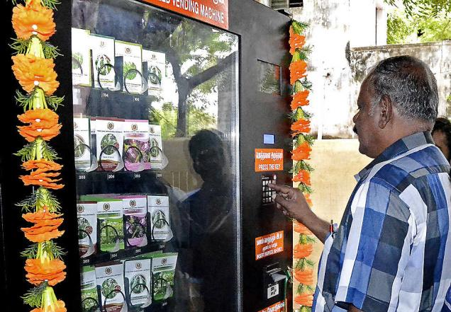 Vending Machine selling seed in India