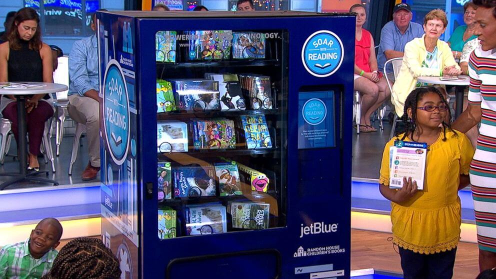 Book vending machine – 'Soar with reading'